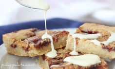PB&J Shortbread Cookie Bars
