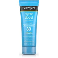 Neutrogena Hydro Boost Sunscreen SPF 30 This smelled really weird and it stung my eyes terribly! Sport Sunscreen, Skin Care Spa, Diy Skin Care, Best Eye Cream, Broad Spectrum Sunscreen, Lotion, Vacation Packing, Products