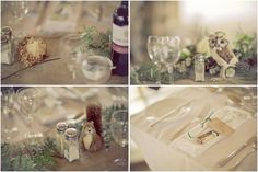 Beautifully textured Nature themed wedding. Earthy greens and browns. Took place in The Welsh Wildlife Centre in Cardigan, Pembrokeshire, West Wales.