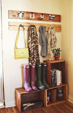 mud room organization from 'A Beautiful Mess' blog