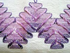 Embroidery on huck towel