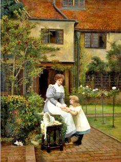 Vernon, Arthur Longley (b,1842)- Reading Lesson, 1897
