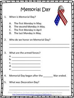 memorial day word games