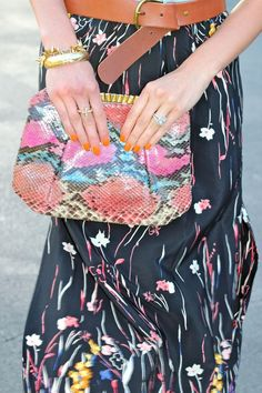 Snakeskin + florals. Who knew they would make such a perfect pair?