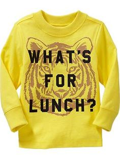 """Whats For Lunch?"" Tees for Baby"