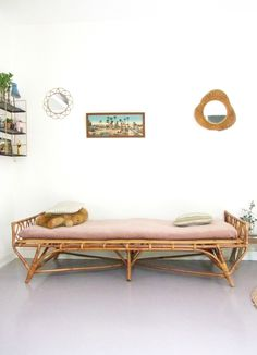 Daybed rotin vintage