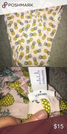 Cozy summer pineapple pajama pants Cozy summer pineapple pajama bottoms . Never worn, tag still attached . Forever 21 Intimates & Sleepwear Pajamas