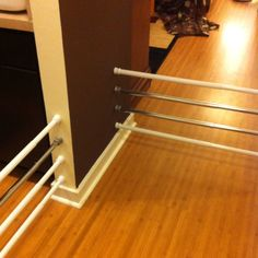impromptu pet/baby gates with tension rods