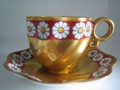 Antique Coalport Demitasse Cup and Saucer