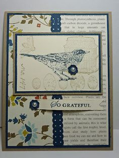 Joan's Daily Stampede    Supplies:        Crumb Cake CS, Comfort Cafe DSP, First Edition DSP, Midnight Muse CS, Very Vanilla CS      Nature Walk Stamp Set, Apothecary Art Stamp Set      Crumb Cake, and Midnight Muse Ink Pads      Basic Pearls, Punch, Dotted Scallop Ribbon Punch