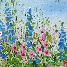 Splattered paint has NEVER looked so good! via My Flower Journal