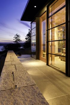 Prentiss #Architects designed the North Bay residence in Washington State.