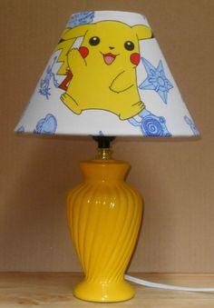 POKEMON PIKACHU FABRIC LAMPSHADE Handmade Desk Table Children's Bedroom Handmade in Home & Garden, Lamps, Lighting & Ceiling Fans, Lamp Shades | eBay!