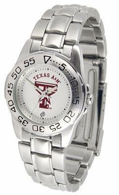 Texas A&M Aggies Suntime Ladies Sports Watch w/ Steel Band - NCAA College Athletics by Sun Time/Links Warner. $49.95. The Ladies Sport Steel watch by Suntime features your favorite team logo in a European styled stainless steel case with a stainless steel strap and security buckle.. Save 29%!