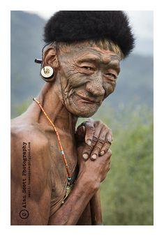 Konyak Naga Elder #nagaland #india #culture #tribal