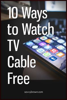 Save money and watch your favorite shows without the hefty cable bill. Free Internet Tv, Computer Internet, Computer Help, Tv Hacks, Netflix Hacks, Cable Tv Alternatives, Technology Hacks, Android Technology, Tv Options