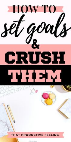 This post taught me how to set goals and crush them. It even provides a FREE PRINTABLE goal setting worksheet that helps me to set my goal more effectively! Achieving Goals, Achieve Your Goals, Goal Setting Worksheet, Set Your Goals, Setting Goals, On Set, Self Improvement, Personal Development, Productivity