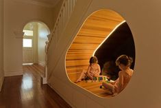 CplusC Architectural Workshop Creates a Futuristic Space for Children #stairs trendhunter.com