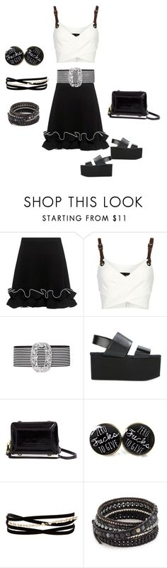 """""""Black beauty skirt"""" by angelandmila ❤ liked on Polyvore featuring Boutique Moschino, Barbara Bui, Alessandra Rich, Marni, Aimee Kestenberg, Kenneth Jay Lane and Chan Luu"""