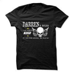 Sure DARREN Always Right 1C^ - shirt design #Tshirt #T-Shirts