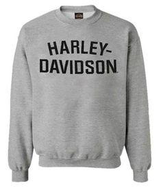 New Harley-Davidson Men's Sweatshirt, Heritage H-D, Gray Crew Neck Pullover 30296642 Mens Sweatshirts. Fashion is a popular style Harley Davidson Dealership, New Harley Davidson, Crew Sweatshirts, Hoodies, Crew Neck, Graphic Sweatshirt, Pullover, Mens Tops, Gray