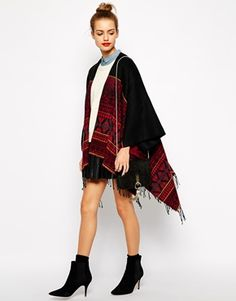 Enlarge New Look Printed Blanket Cape