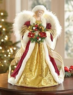 Christmas Winter Angel Tabletop & Tree Topper Decoration by Collections Etc