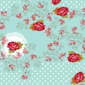 doilies and roses fabric by katarina for sale on Spoonflower - custom fabric, wallpaper and wall decals