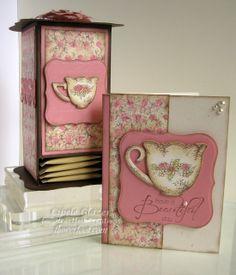 Flower Foot Designs: Heartfelt Creations - Tattered Blossoms Tea Box