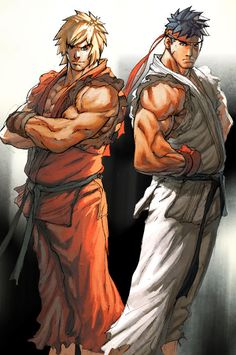 29 Intense Ken of Street Fighter Artworks