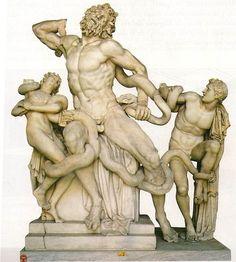 Laoconte y sus hijos Grecia periodo helenístico