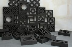Love the idea of using lots of different styles of breeze blocks in one screen...