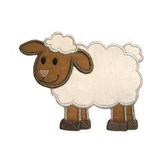Lamb Applique Maschine Stickerei digitales Design Sheep Ewe Baa Nutztiere
