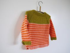 Hand Knitted Kids Sweater - Chunky Nautical Pullover - seamless knit - fits 3-5 year old