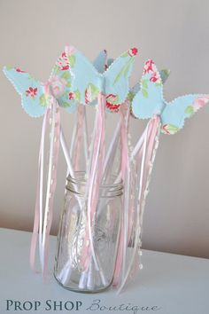 Girls+Butterfly+Wand+Birthday+Party+Favor+by+propshopboutique,+$12.00