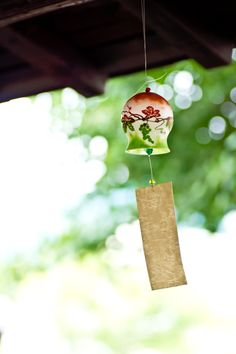 Japanese wind bell, Furin | PHOTOHITO. We saw these beautiful chiming bells in Tokyo! Lovely! Fun!