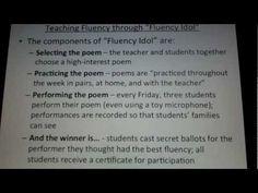 """Teaching Fluency through """"Fluency Idol"""""""