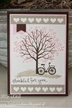 LizDesign Stampin Up Sheltering Tree Card