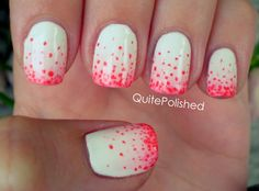 China Glaze Go Go Pink & OPI Big Hair...Big Nails over Wet n Wild French White Creme