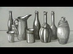 How to Draw a Still Life: Bottles and Jugs by Circle Line Art School  - Drawing Technique