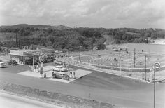 """""""Two slightly different scenes of the Pure station at Westgate Shopping Center. Remember the Putt-Putt course behind the station?""""  Shared by Wayne Henderson on """"You know you grew up in Asheville, North Carolina if. . ."""" Facebook page."""