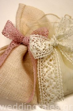 Μπομπονιέρες Γάμου: Μοντέρνες γαμήλιες μπομπονιέρες πουγκάκια