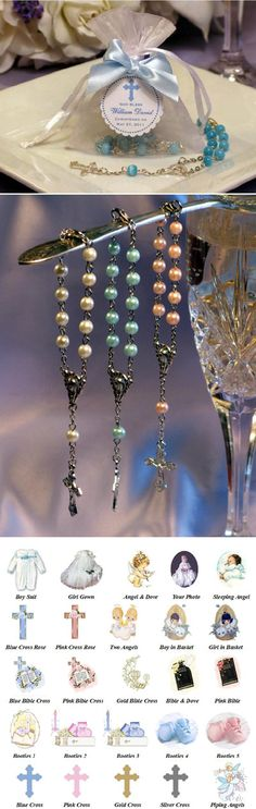 Baptism Christening Mini Rosary in Organza Bag favors