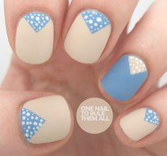 Barry M - Lychee, Collection 2000 BMX Bandit, white acrylic paint for the dots, and striping tape for the triangles