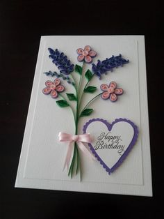 Lovely quilled card