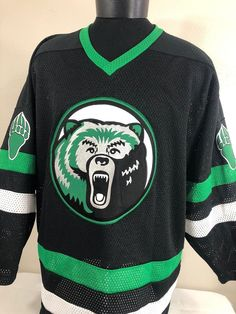557502e54 Vintage Bear Logo Hockey Jersey Kobe sewn logos Made in Canada Men's Size XL  Excellent condition Measurements Armpit to armpit = 26 inches Armpit to end  of ...