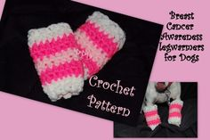 Breast Cancer Awareness Dog Leg Warmers