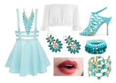 Cupcake's 'dumb dumb' outfit by kawaiibaa on Polyvore featuring polyvore, fashion, style, Sans Souci, Manolo Blahnik, Gas Bijoux, Blu Bijoux, Natasha Accessories and clothing