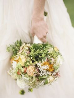 Organic bouquets: http://www.stylemepretty.com/maryland-weddings/2015/03/11/rustic-manor-wedding/ | Photography: Krista A Jones - http://kristaajones.com/