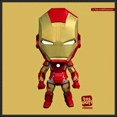 Iron Man Mark 43 Free Papercraft Download - http://www.papercraftsquare.com/iron-man-mark-43-free-papercraft-download.html